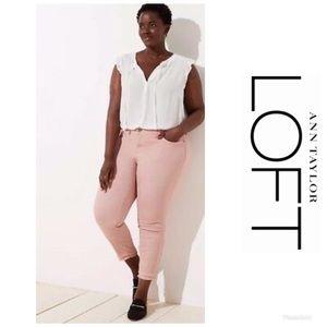 NWT LOFT Modern Double Frayed Skinny Jeans Sz 18!